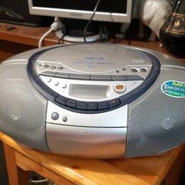 """Музыкальные центры,  магнитофоны, магнитолы -  Магнитола SONY CFD-S35CP Stereo CD MP3 MegaBass""""Кобра"""" кассетная, 0"""