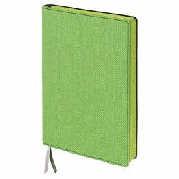 Рисование - Блокнот А5 (148х213 мм), BRAUBERG «Tweed», 112 л., гибкий, под ткань, линия, зел, 0