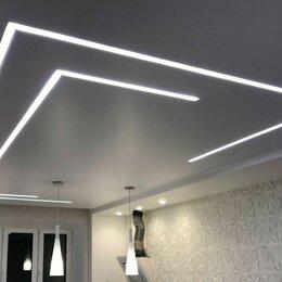 Архитектура, строительство и ремонт - Световые линии с переходом на стену в натяжном потолке, 0