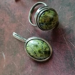 Кулоны и подвески -  Украшение из мельхиора с натуральным камнем , 0