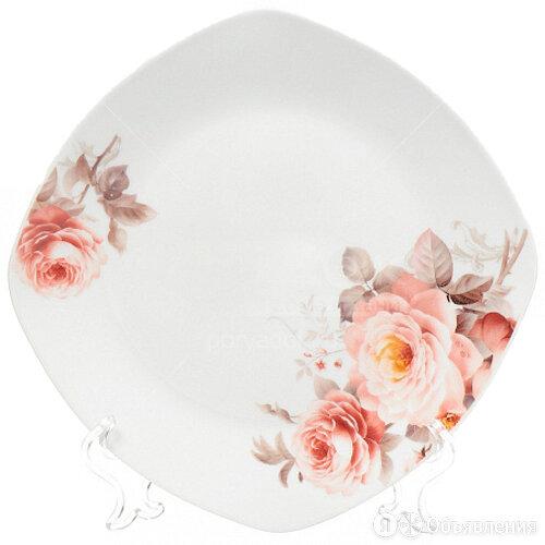 Ф Тарелка десертная 24см Розы квадрат 17-023 DNN арт. (307931) по цене 121₽ - Тарелки, фото 0