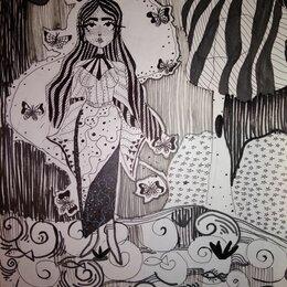 Картины, постеры, гобелены, панно - Графика Водная стихия, 0