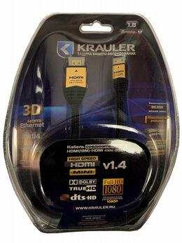 Кабели и разъемы - Кабель HDMI (M) - HDMI-mini (M) KRAULER  24GOLD,…, 0
