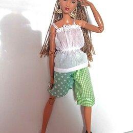 Аксессуары для кукол - Модный летний костюм для Барби., 0