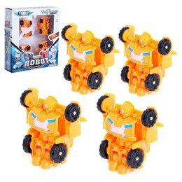 Роботы и трансформеры - Робот «Автороботы», 4 штуки, трансформируются, цвет оранжевый, 0