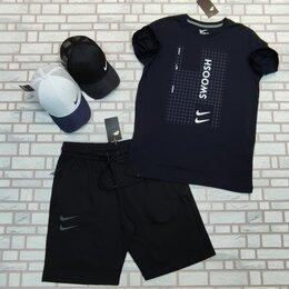 Спортивные костюмы - Комплект футболка с шортами синий найк, 0