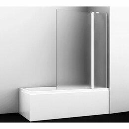 Шторы - Штора для ванны  WasserCRAFT BERKEL 48P02-110R Matt glass Fixed  9062475, 0
