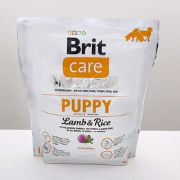 Корма  - Сухой корм Brit Care Dog puppy для щенков, 1 кг., 0