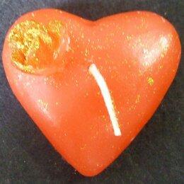 Декоративные свечи - Набор Свечей сердце позолота 1150 3шт, 0
