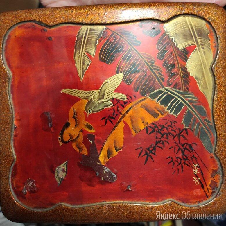 шкатулка деревянная с птицами,Юго-Восточная Азия по цене 4600₽ - Шкатулки, фото 0