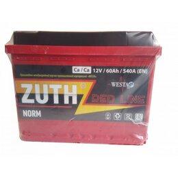 Блоки питания - Аккумулятор 6СТ-60 ZUTH Red Line, 0