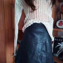 Юбки - Кожаная юбка, 0