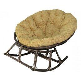 Плетеная мебель - Papasan rocking кресло, ротанг №6+ткань mulan 054 (1100*1100), 0