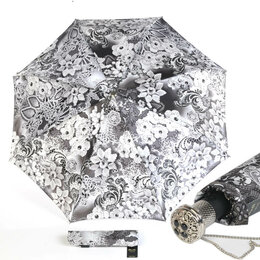Зонты от солнца - Зонт складной Auto Novita Bianco Lux Pasotti- новый , 0