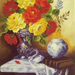 Дизайн, изготовление и реставрация товаров - Букет роз в синей вазе Артикул : GF 2817, 0