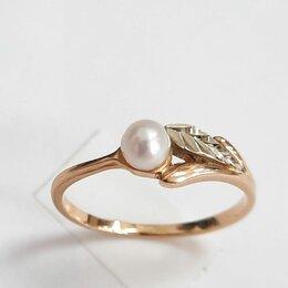 Кольца и перстни - Золотое кольцо с жемчугом,17, 0