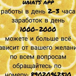 Менеджеры - Менеджер в Whats App, 0