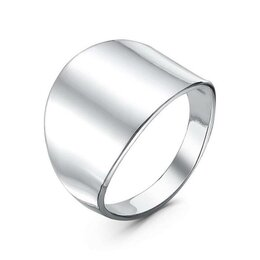 """Свадебные украшения - Кольцо """"Минимал"""" широкое, посеребрение, 18 размер, 0"""
