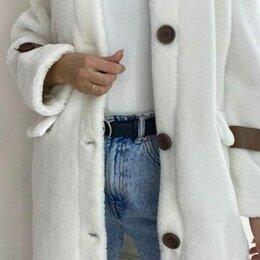 Пальто - Женское плюшевое пальто, 0