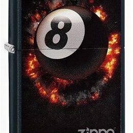 Пепельницы и зажигалки - Зажигалка zippo бильярдный шар, 0