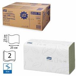 Туалетная бумага и полотенца - Полотенца бумажные, 250 шт., TORK (Система H3) Advanced, комплект 15 шт., 2-с..., 0
