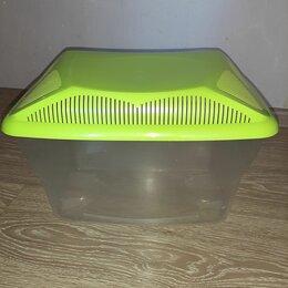 Аквариумы, террариумы, тумбы - Террариум пластиковый с крышкой для мелких грызунов и улиток, 0