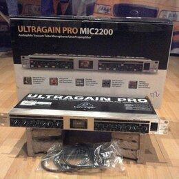 Оборудование для звукозаписывающих студий - Behringer ultragain pro mic2200 в коробке, 0
