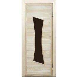 Двери - Дверь банная с остеклением ПО-11, 0