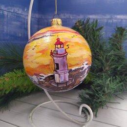 Ёлочные украшения - Новогодние шары ручная роспись, 0