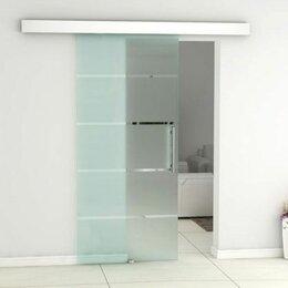 Межкомнатные двери - Стеклянная межкомнатная раздвижная дверь-купе, 0