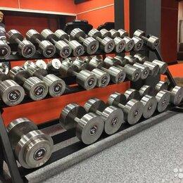 Аксессуары для силовых тренировок - Гантельный ряд, гантели 105кг. Произв-во и др.вес, 0