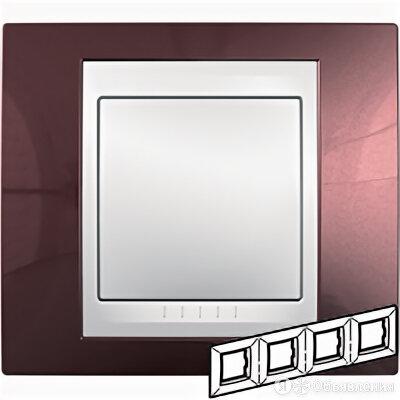unica рамка гор, 4 места, хамелеон терракотовый/ бежевый mgu6.008.551 по цене 1974₽ - Электроустановочные изделия, фото 0