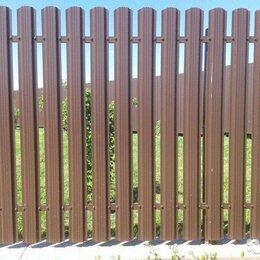 Заборы, ворота и элементы - Металлический штакетник коричневый шоколад, 0