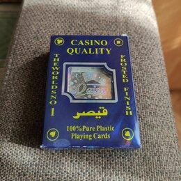 Настольные игры - Игральные Карты Пластиковые casino quality 100 all plastic playing, 0