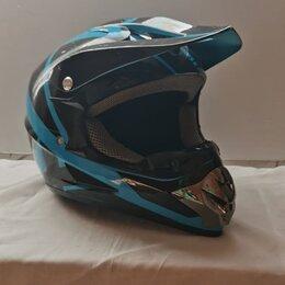 Мотоэкипировка - Мотошлем fmvss 218 DOT сини-черный,, 0