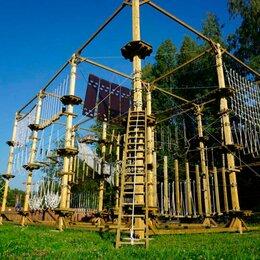 Развлечения - Большой веревочный парк на искусственных опорах., 0