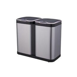 Мусорные ведра и баки - Ведро для раздельного сбора мусора, сенсорное, 2 емкости, Foodatlas  JAH-8522..., 0
