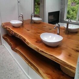 Столы и столики - Столешница в ванную комнату из Слэба карагача, 0