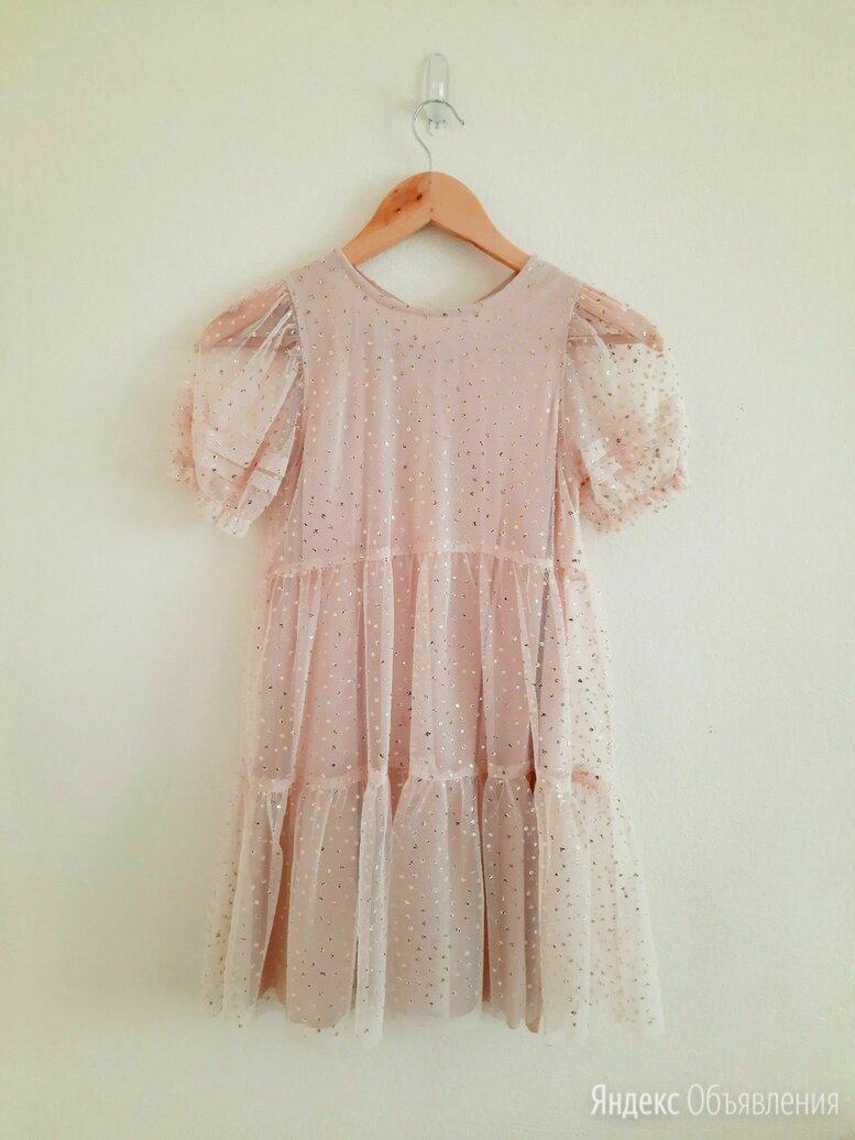 Платье для девочки Zara, из прозрачной ткани с блестками, р.134 по цене 600₽ - Платья и сарафаны, фото 0