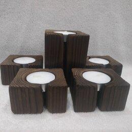 Подсвечники - Деревянные подсвечники, набор, 0