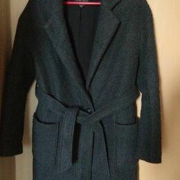 Пальто - Пальто свободного кроя с поясом, 0