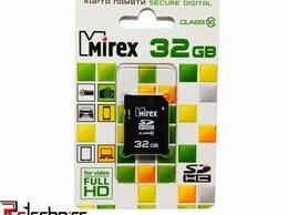 Карты памяти - Флеш карта SD 32GB Mirex SDHC Class 10, 0