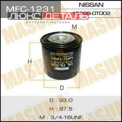 MASUMA MFC1231 Фильтр масляный  по цене 496₽ - Двигатель и топливная система , фото 0