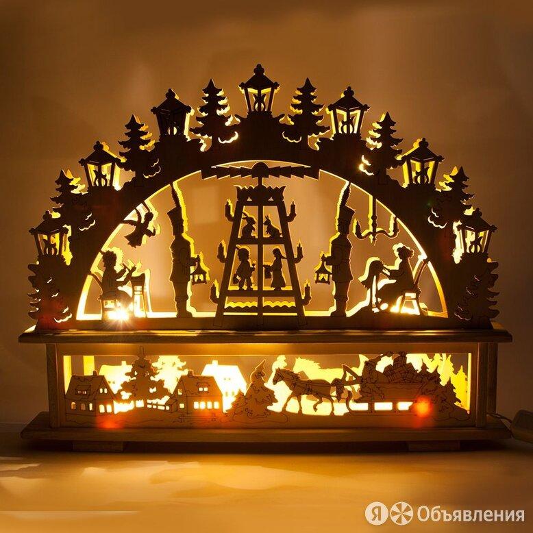 """Световая деревянная фигура Feron """"Панно сказка"""" 350*450 мм, IP20 по цене 479₽ - Новогодний декор и аксессуары, фото 0"""