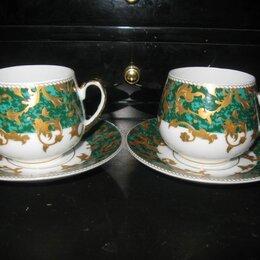 Кружки, блюдца и пары - 2 кофейные пары Yamasen 24K золото, 0