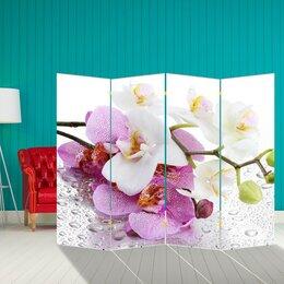"""Ширмы - Ширма """"Орхидеи. Утренняя свежесть"""", 200 × 160 см, 0"""