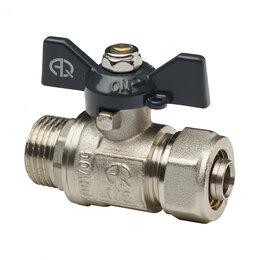 Краны для воды - AQUALINK Кран шаровый для MP труб под обжим AQUVALINK Ду-16х1/2 наружная резь..., 0