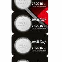 Батарейки - SMARTBUY Батарейка SMARTBUY CR2016 (таблетка) литиевая, BL5, 0