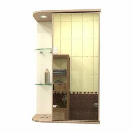 Полки, стойки, этажерки - Навесной шкаф для ванной Мебелеф-2 (правый), 0