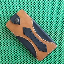 Чехлы - Чехол поясной ручной работы для телефона из натуральной кожи , 0